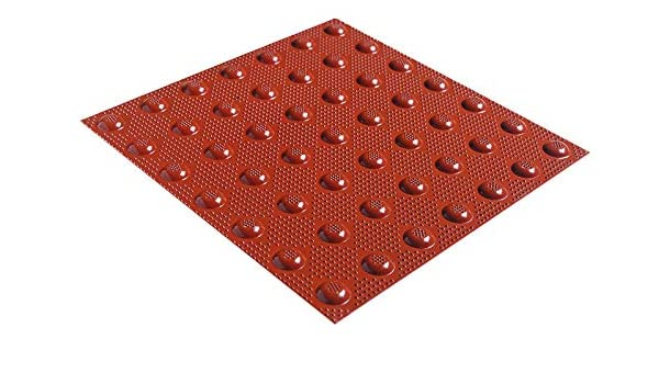 Red ADA Tile 2' x 3' Replaceable Cast In Place - Cast-In-Place
