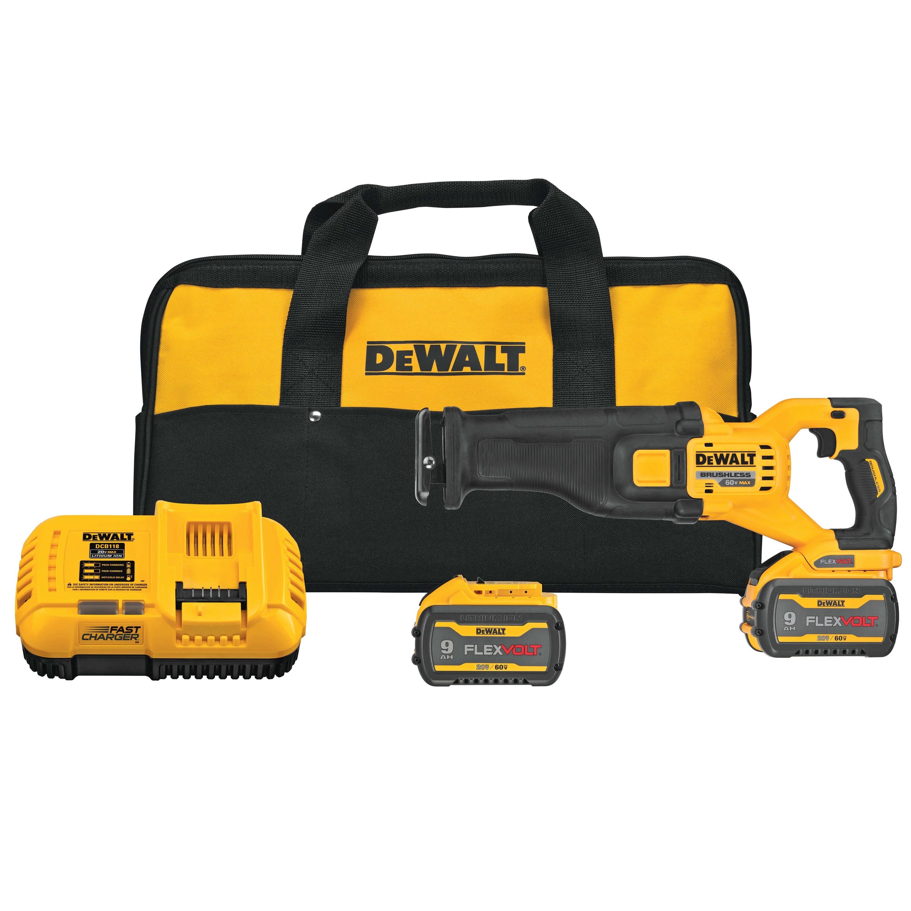 Cordless Reciprocating Saw Kit - FLEXVOLT® 60V MAX* Brushless - Saws