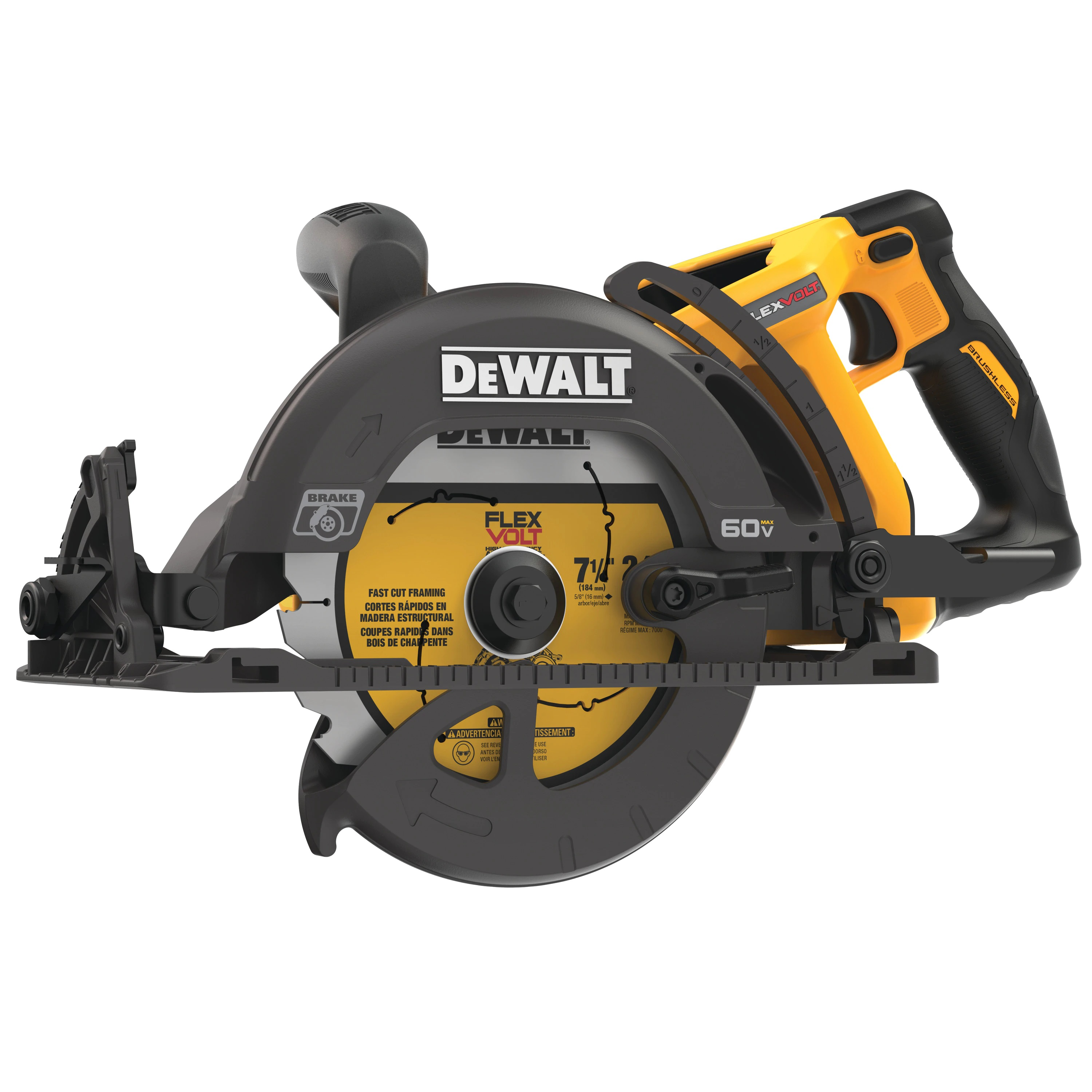 Cordless Worm Drive Saw - FLEXVOLT® 60V MAX* 7-1/4 IN. (TOOL ONLY) - Saws