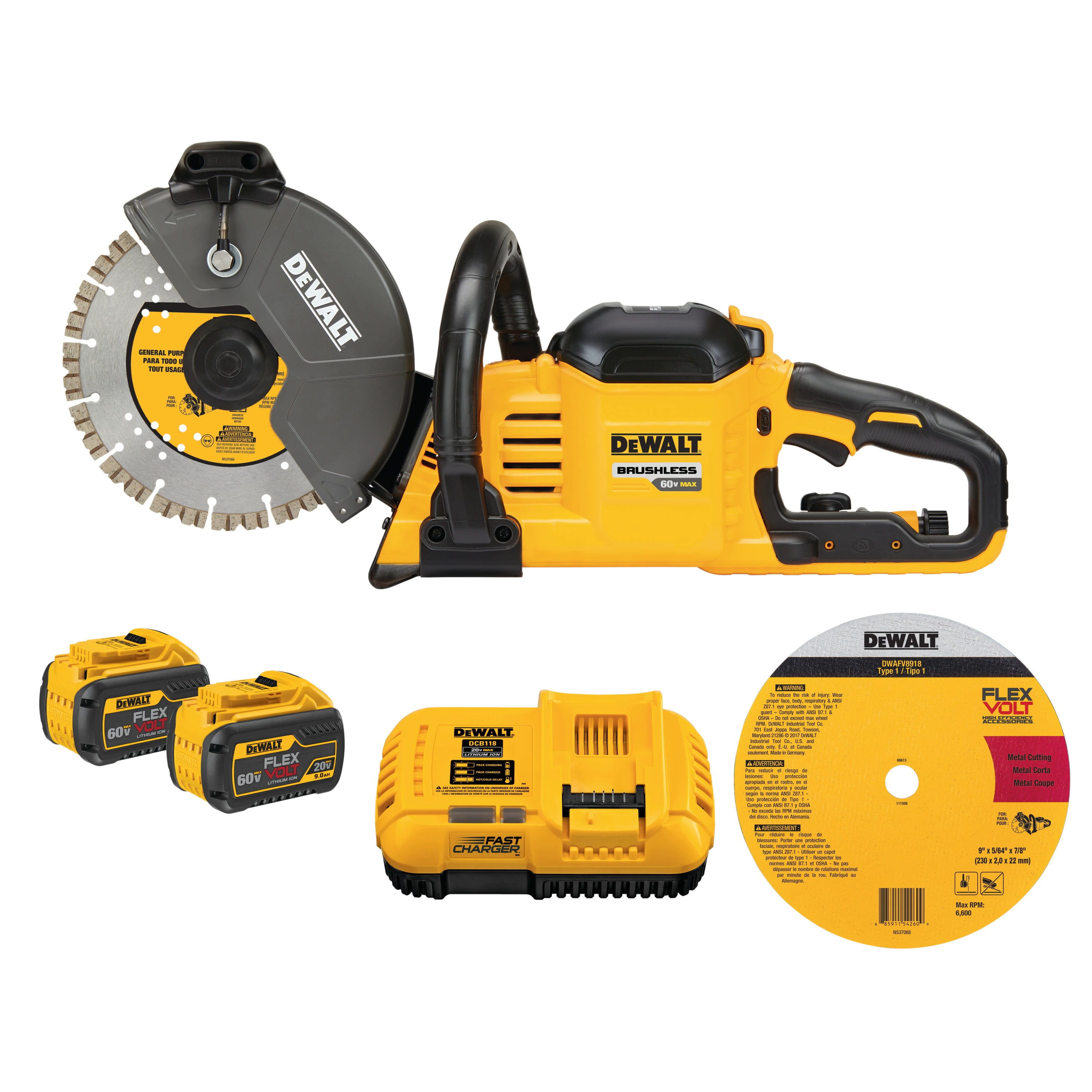 FLEXVOLT® 60V MAX* CORDLESS BRUSHLESS 9 IN. CUT-OFF SAW KIT - Saws