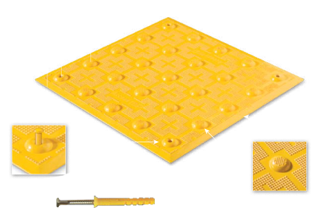 Yellow ADA Tile 2' x 3' Surface Mount - Tactile Warning Devices