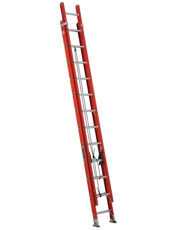 24' Fiberglass Extension Ladder, Type IA, 300lb Load Capacity - Ladders